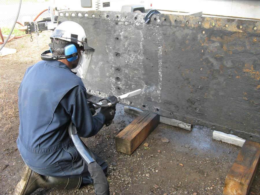 dry ice blasting historical restoration uss monitor
