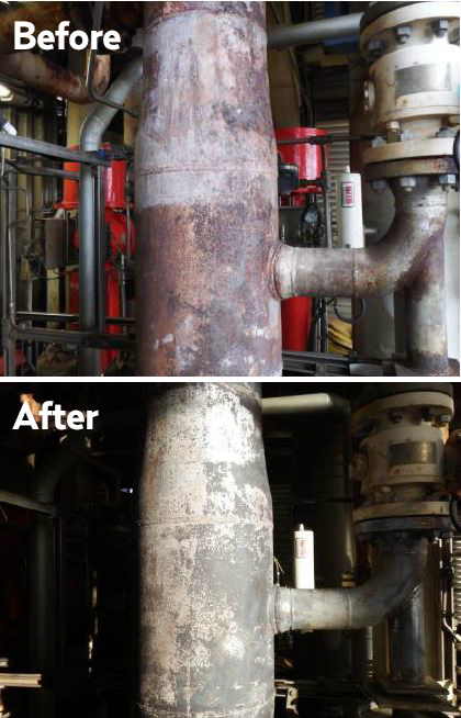 Offshore oil_corrosion - before after