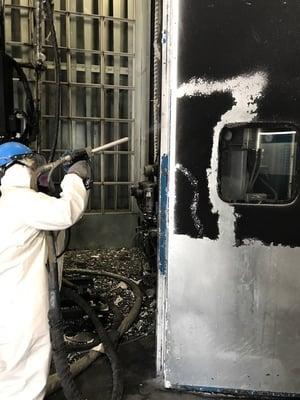 dry ice blasting tar