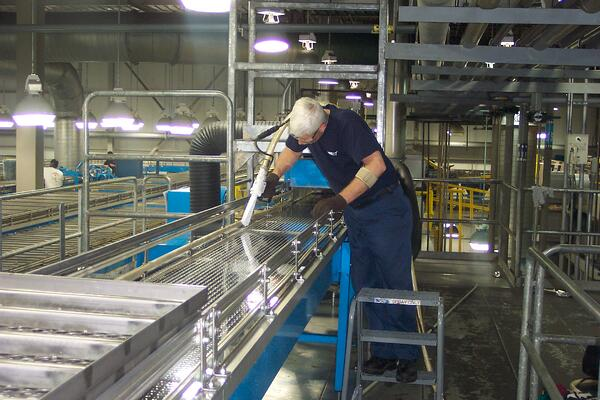 dry ice cleaning food and beverage