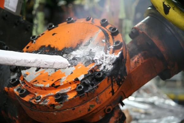 dry ice blasting weld line